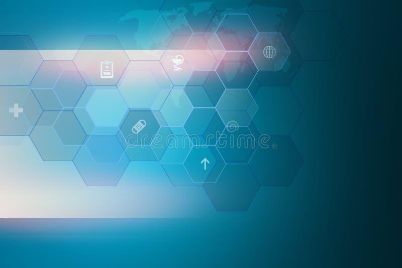 Medizinischer abstrakter Hintergrund mit Blendenfleckkonzept-Reihe lizenzfreie abbildung