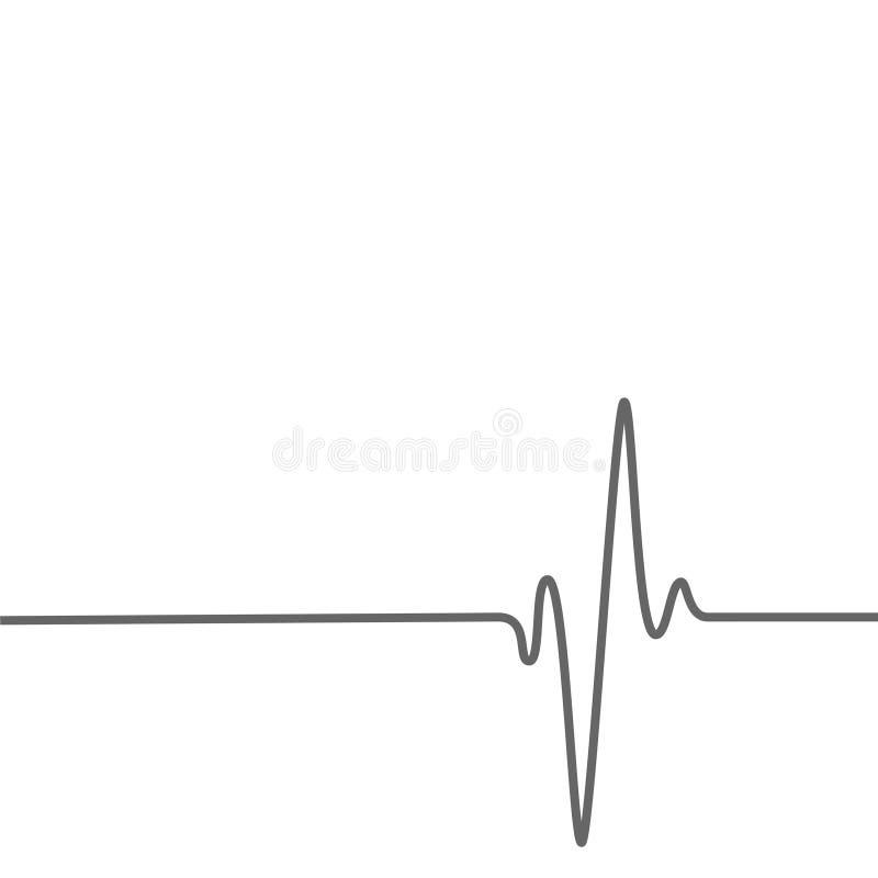 Medizinischer Gesundheitshintergrund mit Herzschlagenlinie stock abbildung