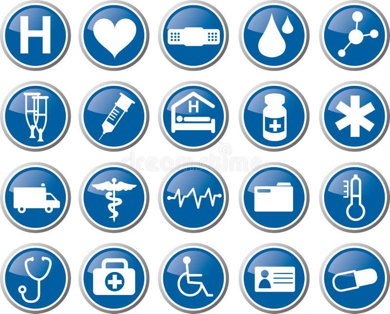 Medizinischer Ikonensatz des Gesundheitswesens stock abbildung