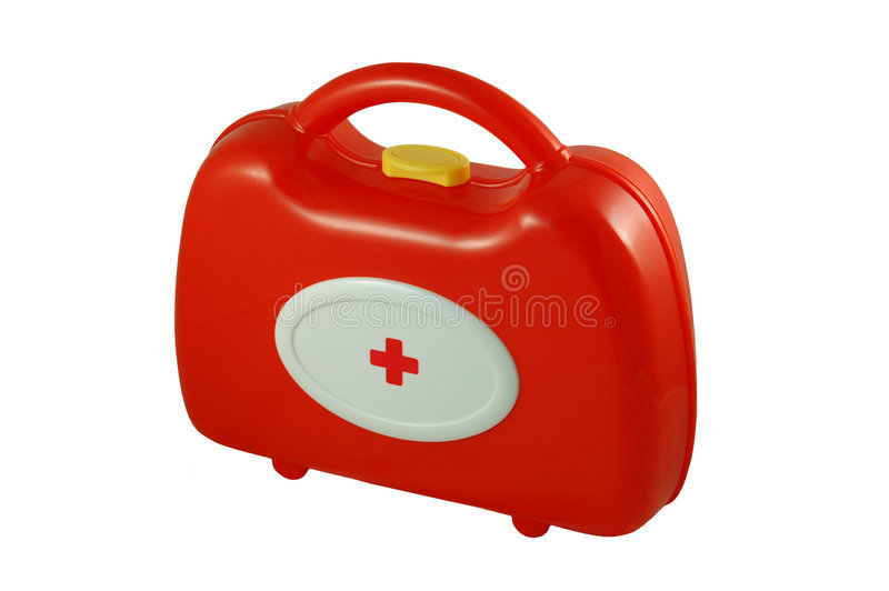 Medizinischer Koffer des Spielzeugs lizenzfreies stockfoto
