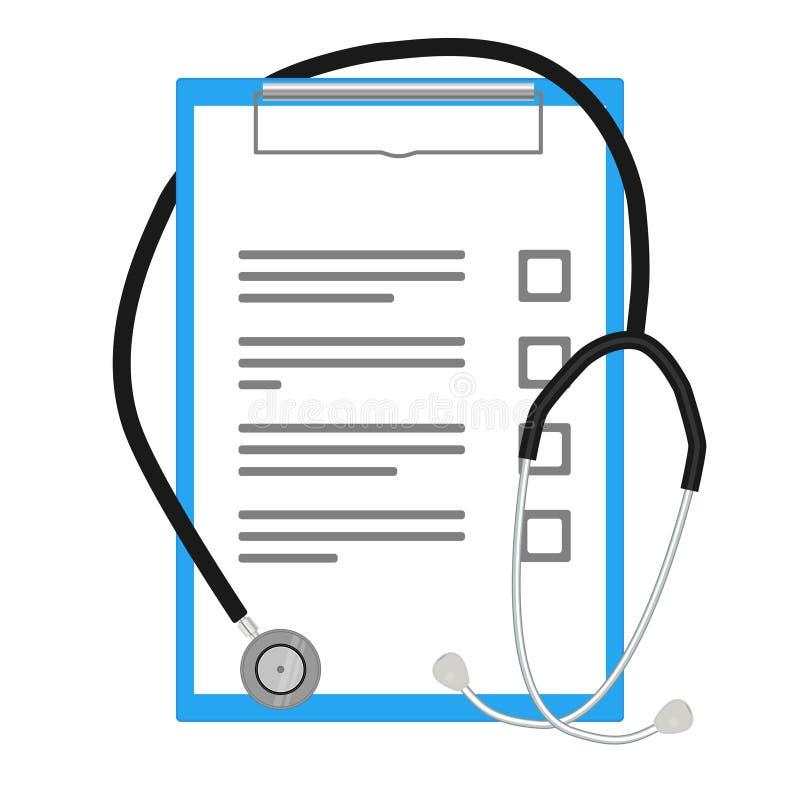 Medizinischer Konzeptdoktor und sein Ausrüstungsvektor stock abbildung