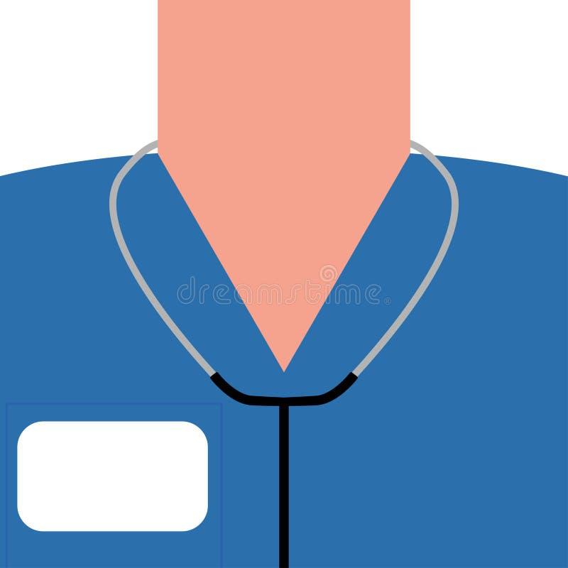 Medizinischer Konzeptdoktor und sein Ausrüstungsvektor lizenzfreie abbildung
