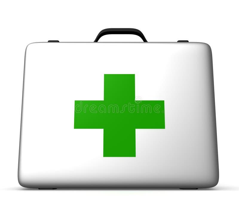 Medizinischer Kräuterkasten lizenzfreie abbildung