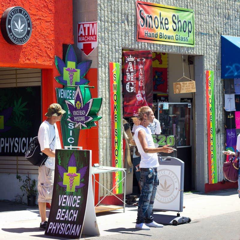 Medizinischer Marihuana-Venedig-Strand CA stockbilder