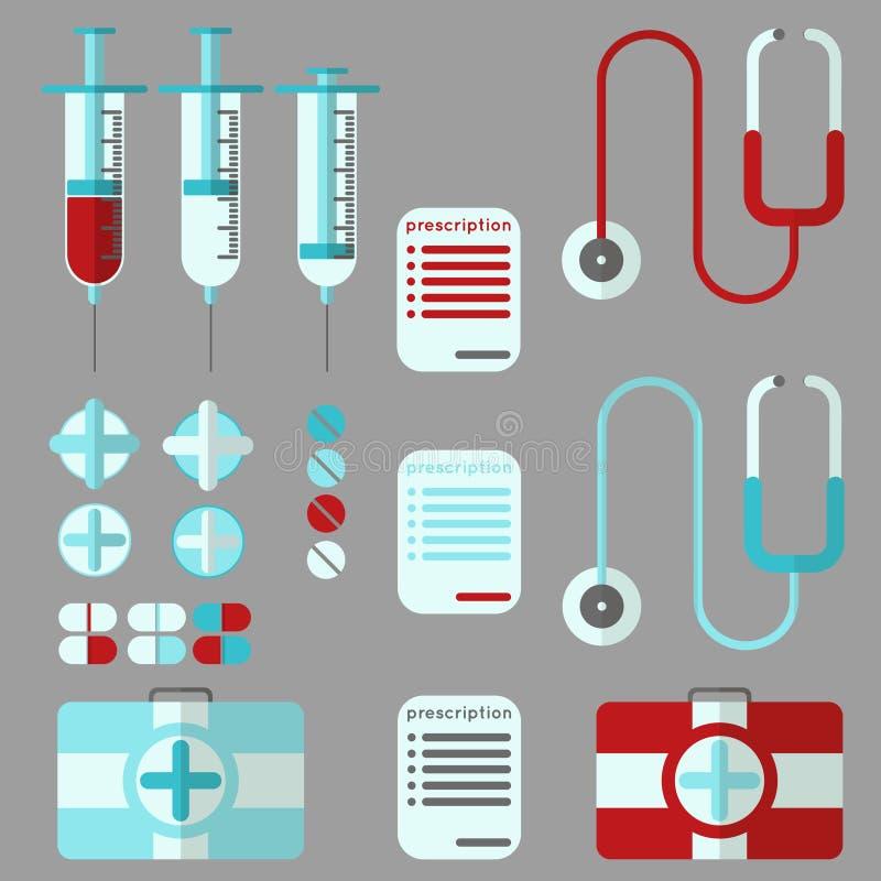 Medizinischer Materialsatz lizenzfreies stockfoto