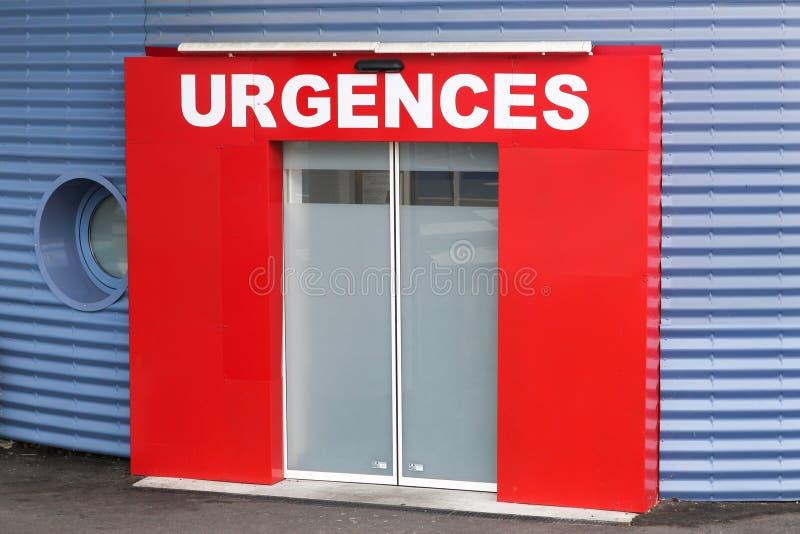 Medizinischer Notfall nannte urgences auf französisch stockfotografie
