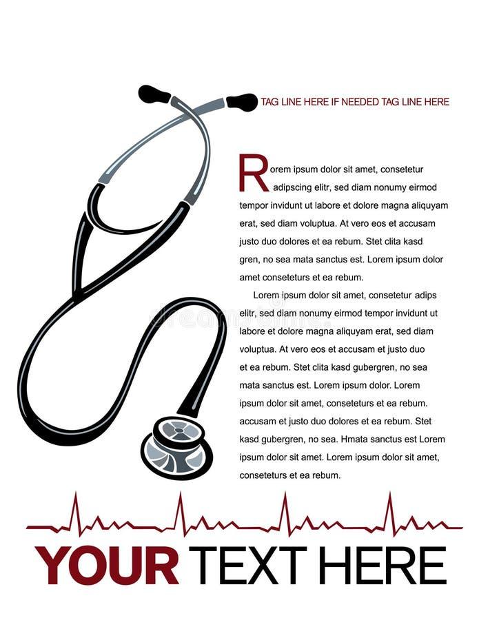 Medizinischer Plan stock abbildung
