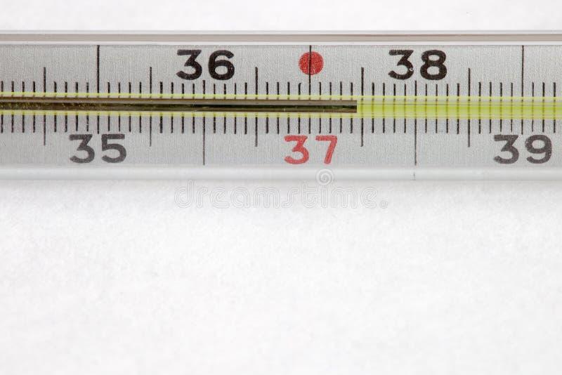 Medizinischer Quecksilberthermometer stockbilder