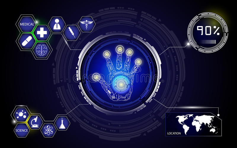 Medizinischer Technologie- und Wissenschaftshintergrund stock abbildung