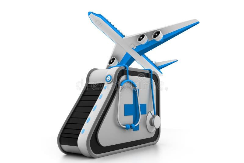 Medizinischer Tourismus lizenzfreie abbildung