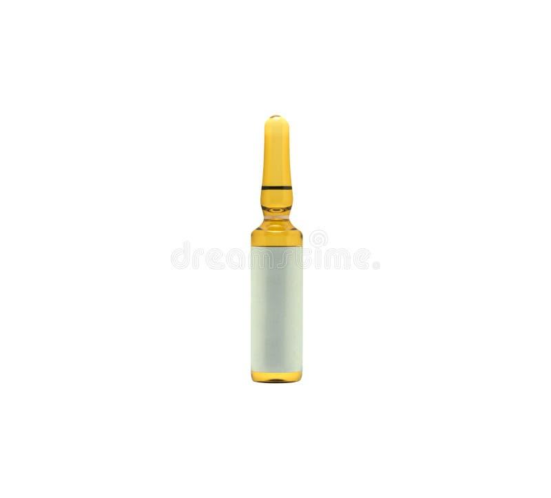 Medizinisches Dosisflaschenisolat benutzt in der Medizin Medizinisches Teil conce lizenzfreie stockfotografie