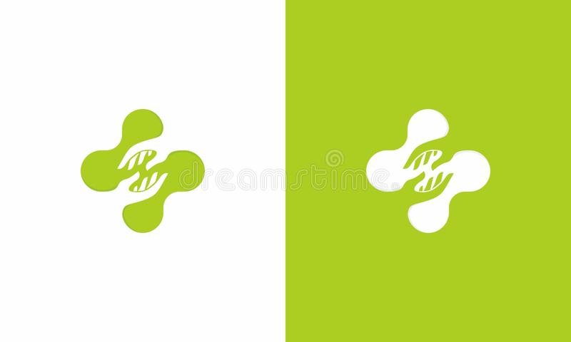 Medizinisches Hilfskreuz-Logo stockfoto