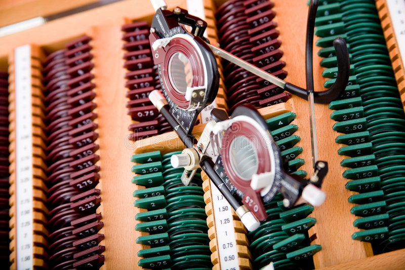 Medizinisches Instrument der Augenheilkunde stockfoto