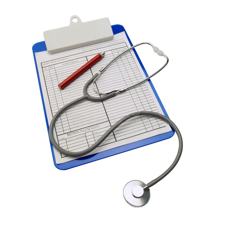 Medizinisches Klemmbrett stockfoto