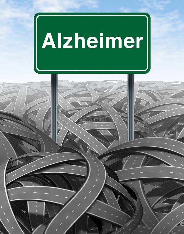 Medizinisches Konzept der Alzheimer-Krankheit und der Demenz stock abbildung