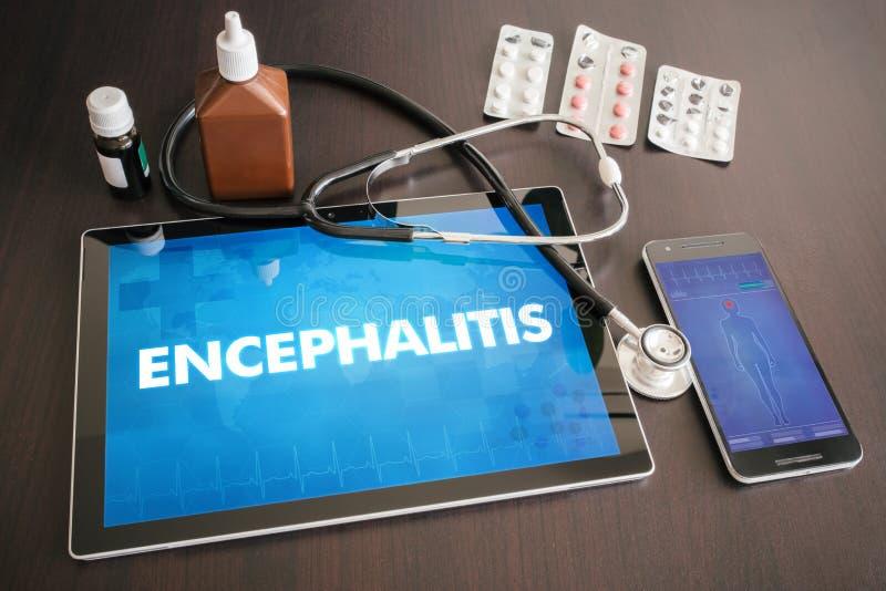 Medizinisches Konzept O der Diagnose der Gehirnentzündung (neurologische Erkrankung) stockbilder