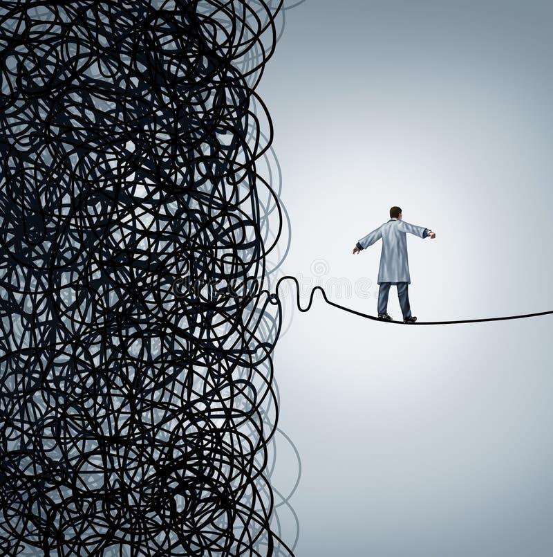 Medizinisches Krisenmanagement lizenzfreie abbildung