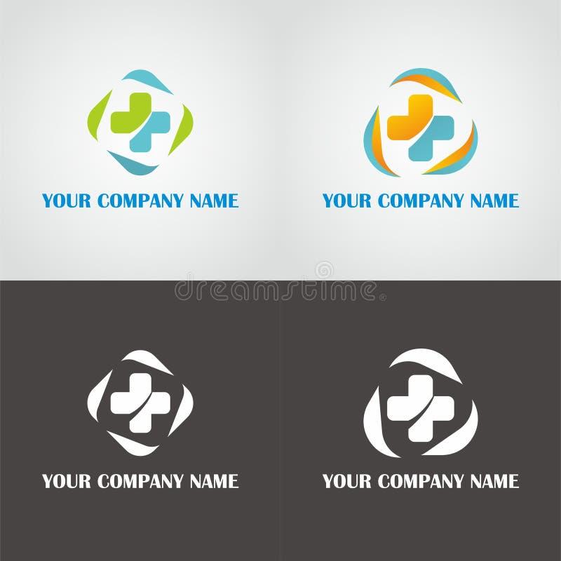 Medizinisches Logo lizenzfreie abbildung