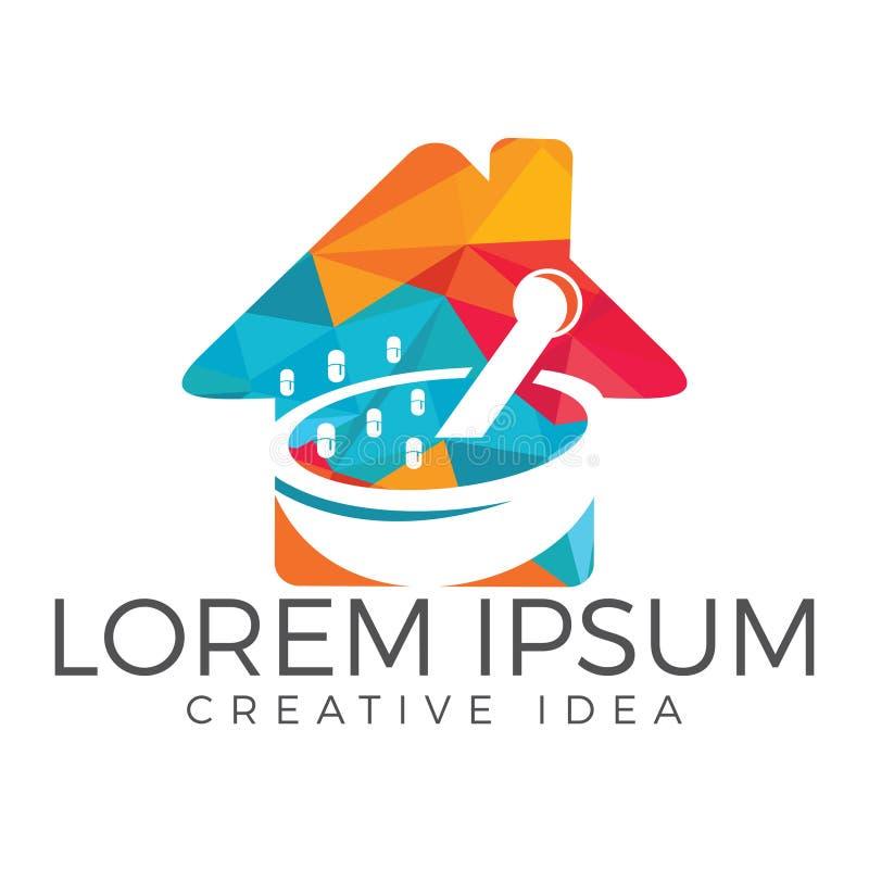 Medizinisches Logo der Apotheke lizenzfreie abbildung