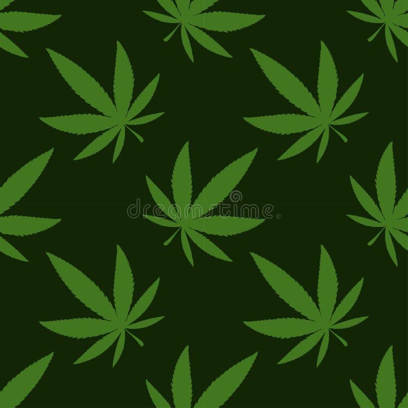 Medizinisches Marihuana, nahtloses Muster, Geschenkpackpapier stock abbildung