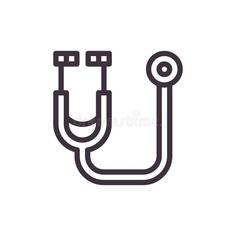 Medizinisches phonendoscope Vektor-schwarze Ikone lizenzfreie abbildung
