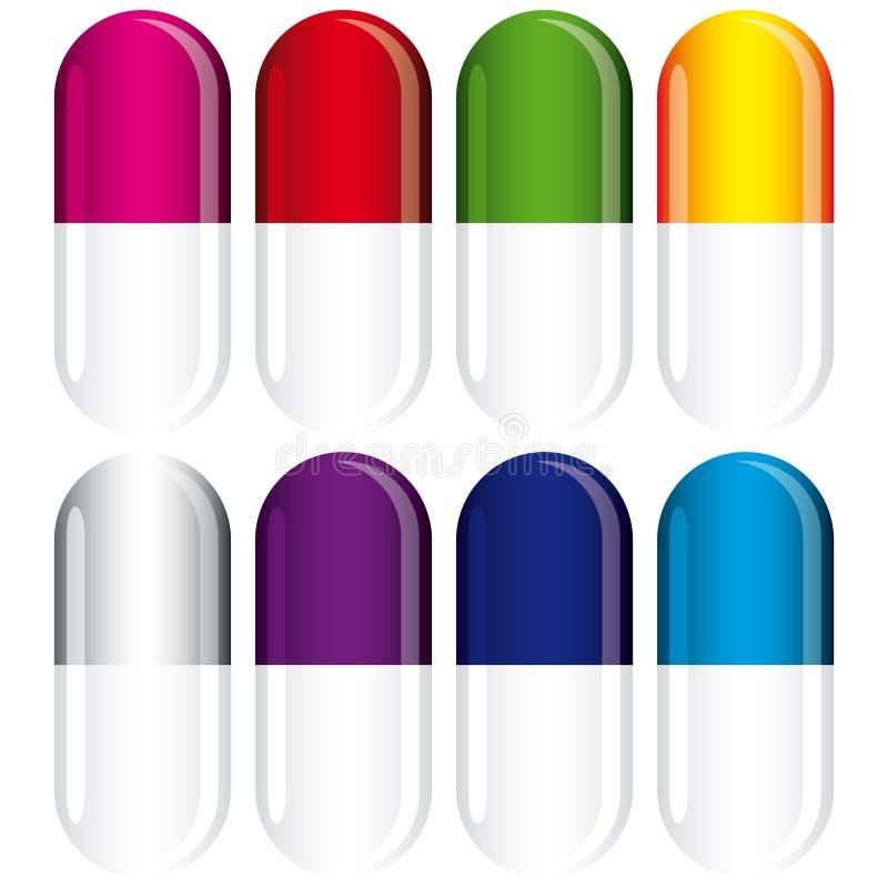 Medizinisches Set der Pille lizenzfreie abbildung