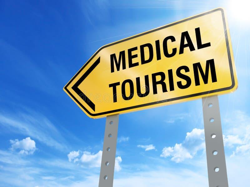 Medizinisches Tourismuszeichen stock abbildung