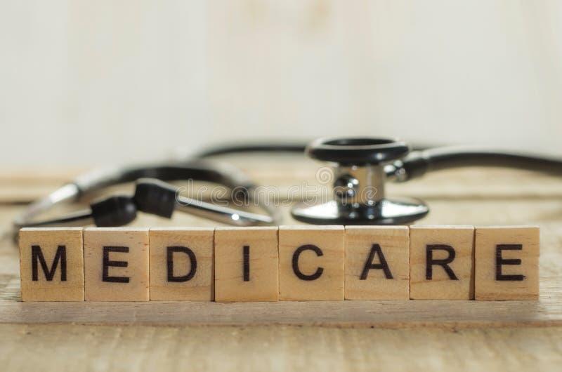 Medizinisches und Gesundheitswesen-Konzept, Medicare lizenzfreies stockbild