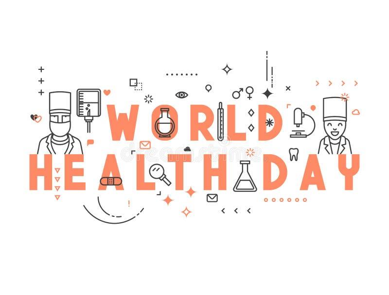 Medizinkonzept Weltgesundheitstag lizenzfreie abbildung