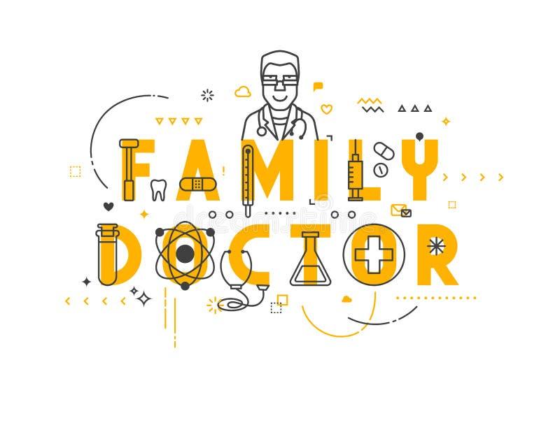 Medizinkonzeptfamilie lizenzfreie abbildung