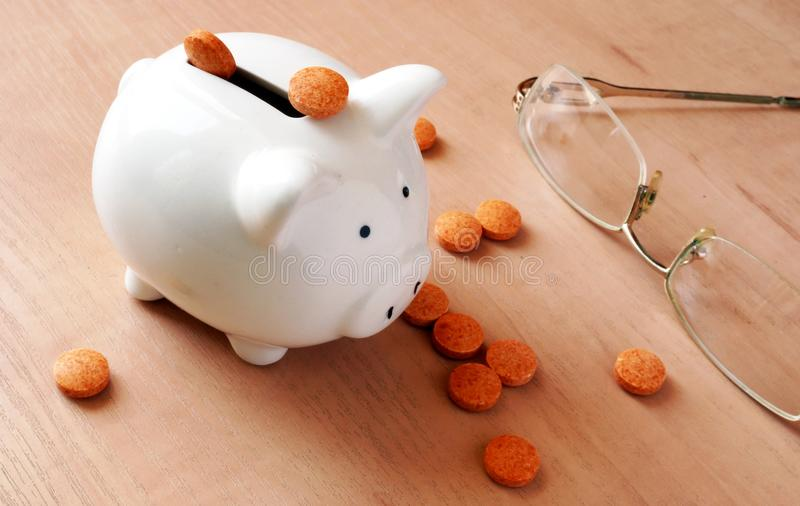 Medizinkostenkonzept stockfotografie