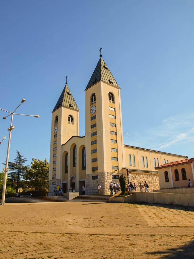 Medjugorje的教会 库存图片