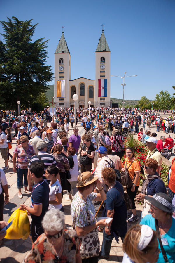 Medjugorje Bośnia i Herzegovina obraz royalty free