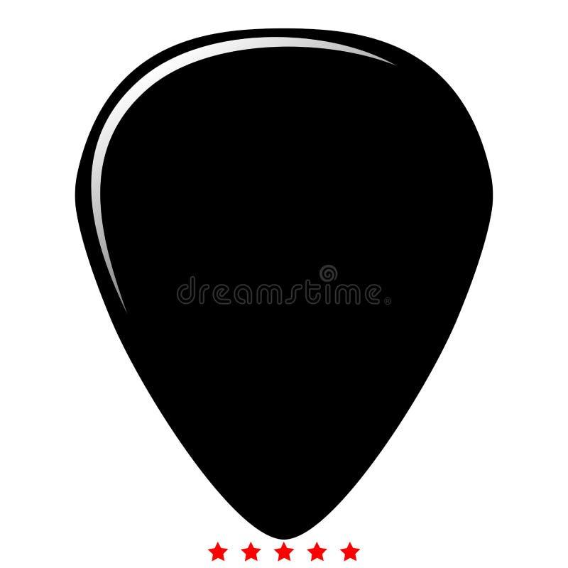 Medlare för stil för påfyllning för färg för gitarrsymbolsillustration royaltyfri illustrationer