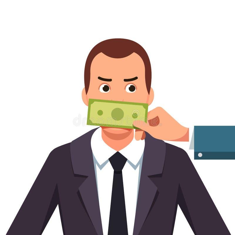 Medlem av påtryckningsgruppkorruptionbegrepp vektor illustrationer