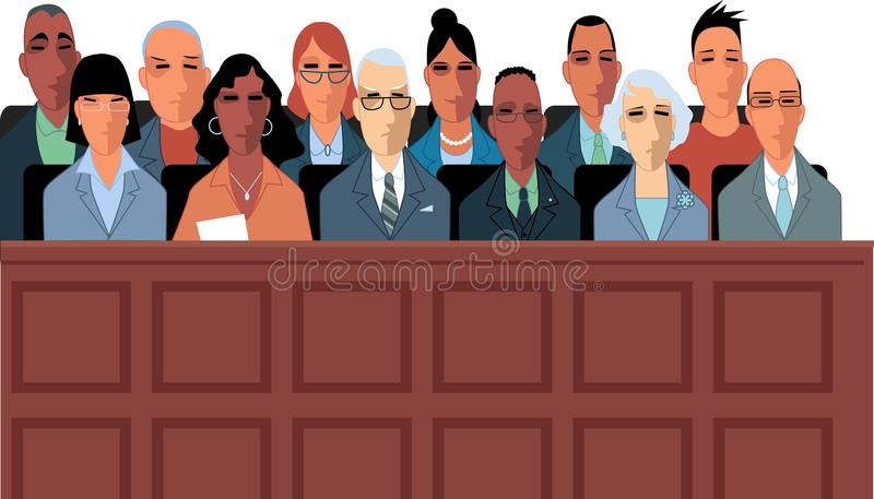 Medlemmar av juryn vektor illustrationer