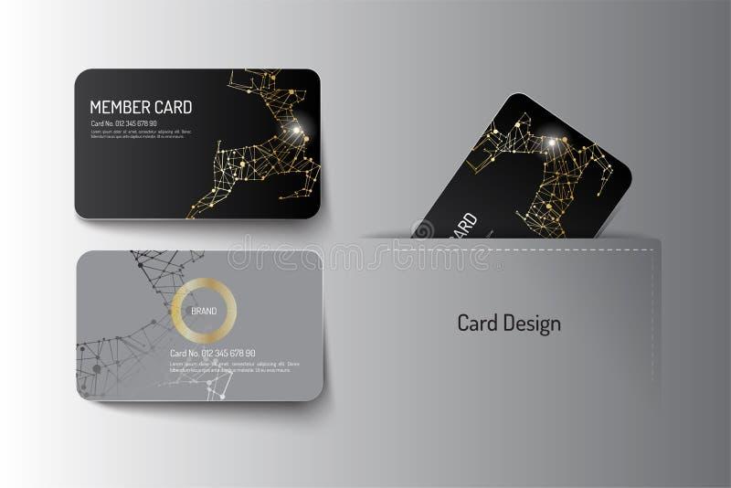 Medlemstorgubbe och design för mall för affärskort vektor illustrationer