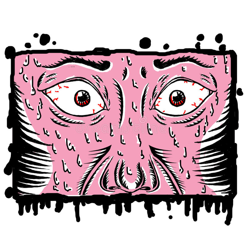 medo ilustração do vetor
