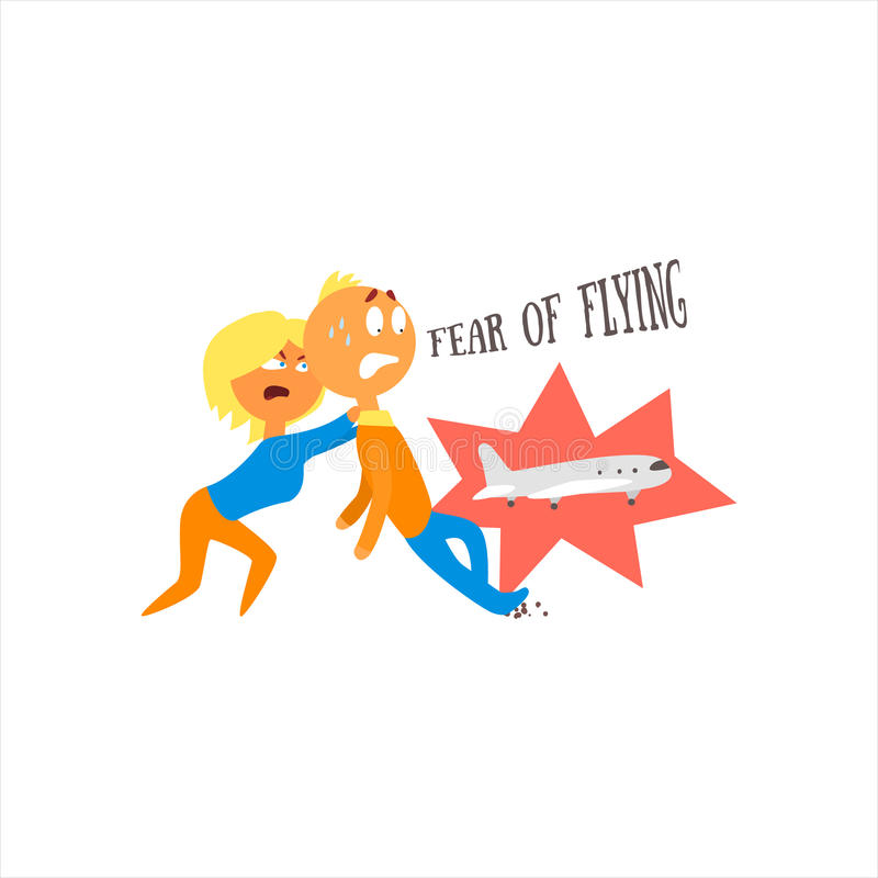 Medo da ilustração do vetor do voo ilustração do vetor