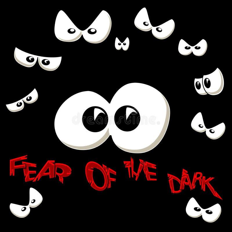 Medo da obscuridade ilustração stock