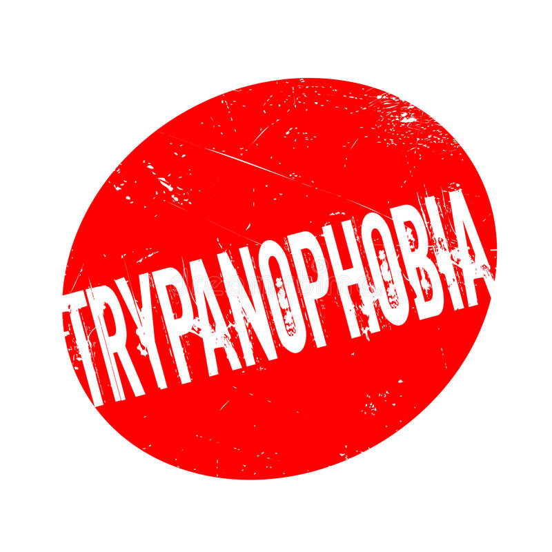 Medo de Trypanophobia do carimbo de borracha das agulhas ilustração royalty free
