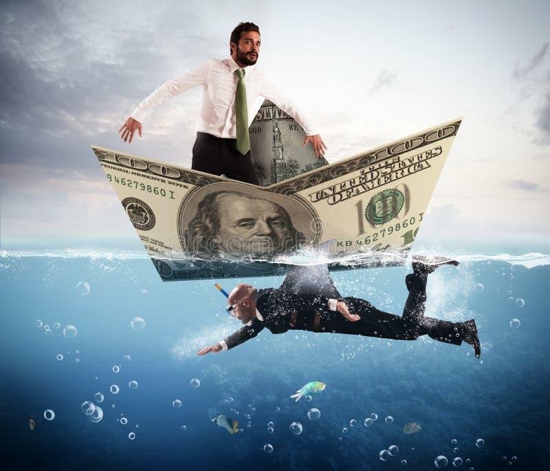 Medo de tubarões do negócio foto de stock royalty free