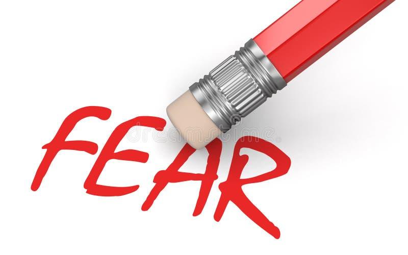 Medo do Erase (trajeto de grampeamento incluído) ilustração stock