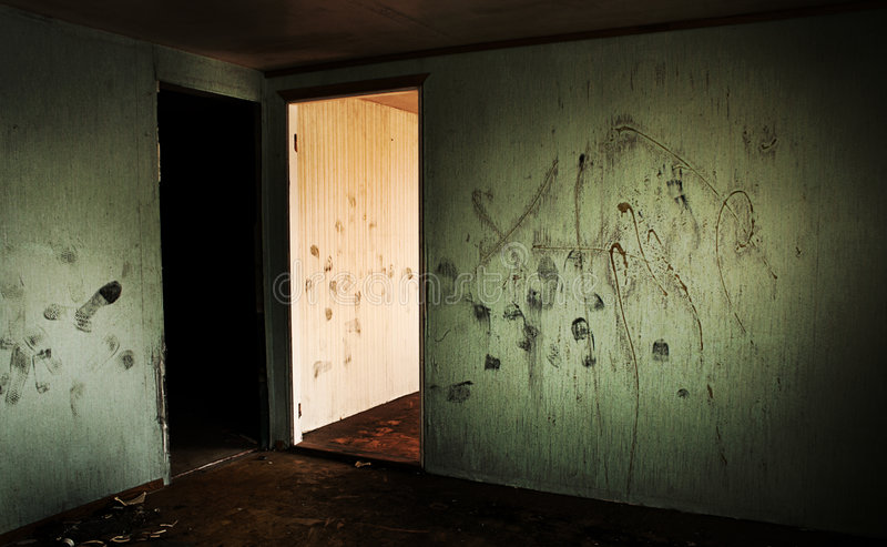 Medo interior fotografia de stock