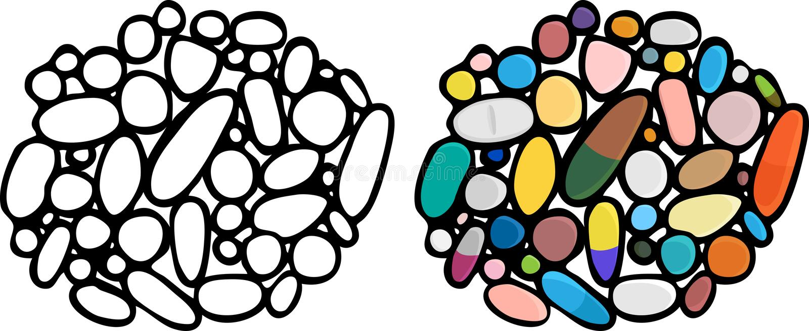 Meds, Pills and Drugs III. Illustrations of a third set of drugs, medications and supplements vector illustration