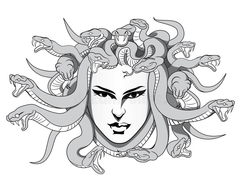 Medusa διάνυσμα ελεύθερη απεικόνιση δικαιώματος