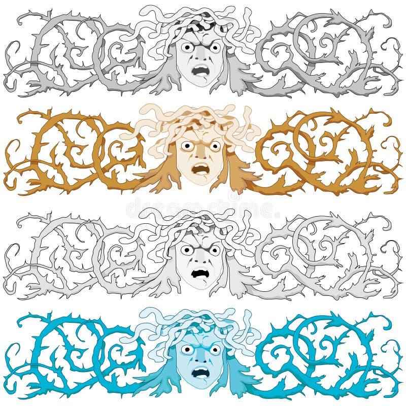 Medusa ilustração stock