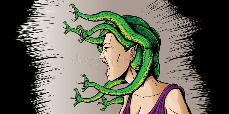 Medusa enojada libre illustration