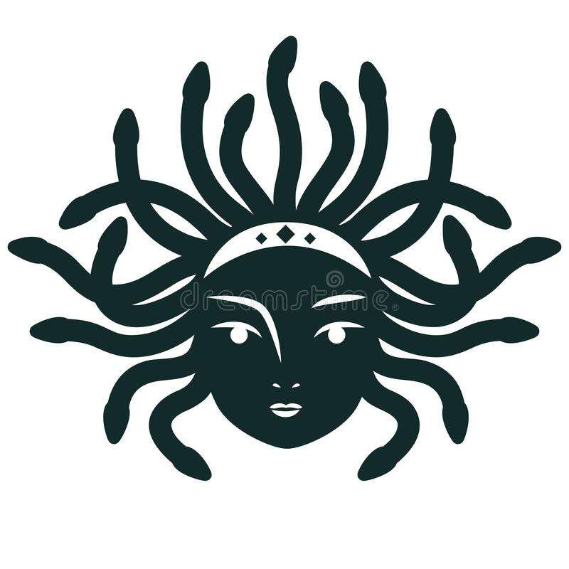 Medusa Gorgona Ilustração do vetor ilustração royalty free