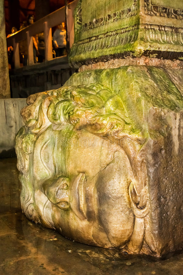 Medusa head, Istanbul, Turkey stock photo
